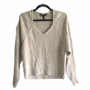 BGBGMAXAZRIA V-Neck Wool Sweater Oatmeal XS